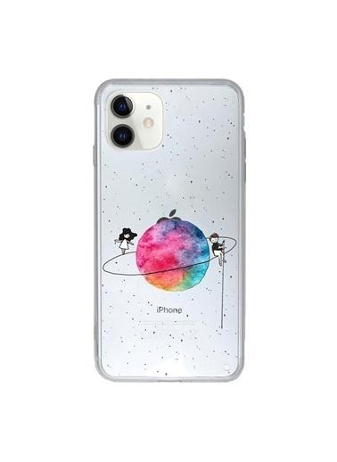 Microsonic iPhone 11 (6.1'') Desenli Kılıf Gezegen Renkli